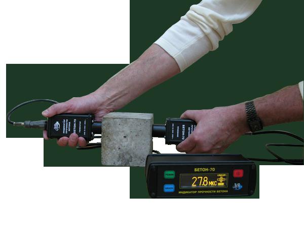 Индикатор прочности бетона БЕТОН-70 - Cквозной режим прозвучивания